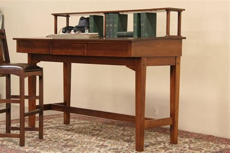 sold railroad station stand   antique craftsman oak desk harp gallery