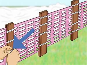 How To Install A Snow Fence  With Pictures