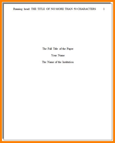 You have to come up with a word, for example, that will help you start. 5+ apa style paper title page - Ledger Review