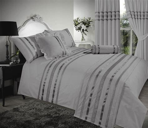 grey silver stylish sequin duvet cover luxury beautiful glamour sparkle egyptian cotton bedding