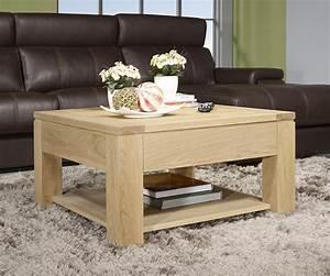 Table Chene Massif : table basse jean en ch ne massif ligne contemporaine ~ Melissatoandfro.com Idées de Décoration