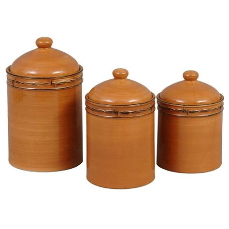 Western Kitchen Canister Sets by Rustic Ranch Canister Set 3 Pcs For The Home Western