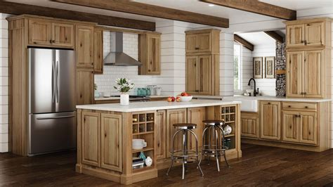Hampton Wall Kitchen Cabinets In Natural Hickory  Kitchen