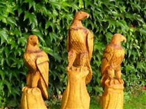 Schnitzerei Mit Der Kettensge Adler