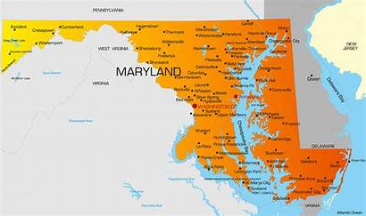Maryland Map State Maps Capital Penalty Death