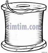 Sewing Drawing Thread Spool Drawings Blank Timtim Bw2 Hobby Coloring Tim sketch template