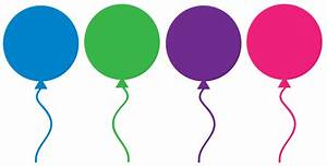 Free Birthday Balloons Clipart for party decor, websites ...
