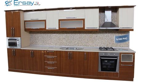 ersay plastik pvc profiles  kitchen cabinets youtube