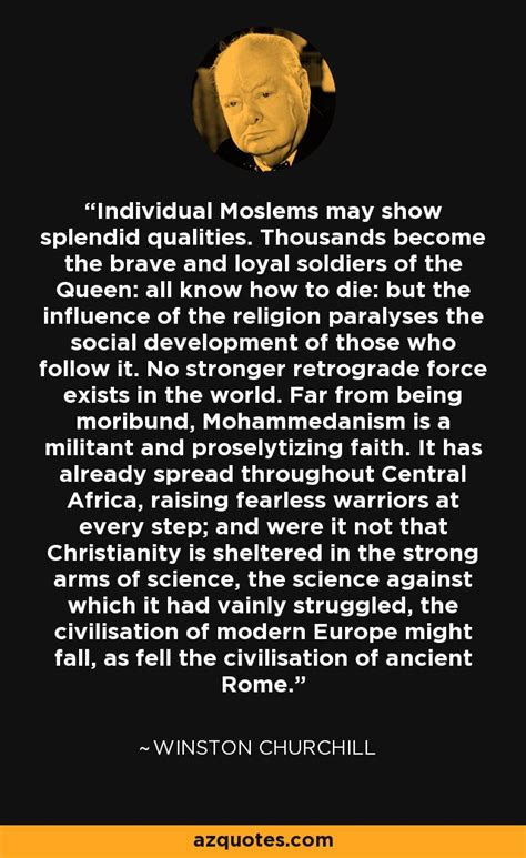 winston churchill quote individual moslems  show