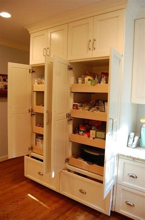 pantry style kitchen cabinets how to build pull out pantry shelves diy projects for