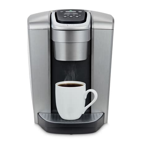 It is the slimmest keurig single serve coffee maker and yet is packed with features. Keurig K-Elite Single Serve Coffee Maker in Brushed Silver-5000197492 - The Home Depot