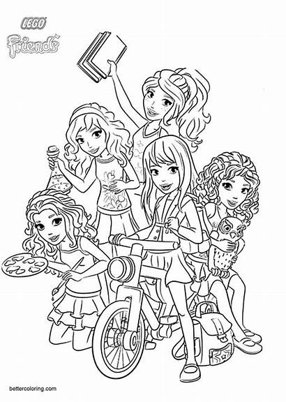 Coloring Pages Lego Friends Characters Printable Adults