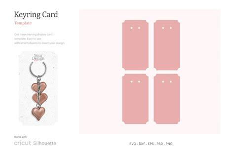 keyring holder card card    blank template