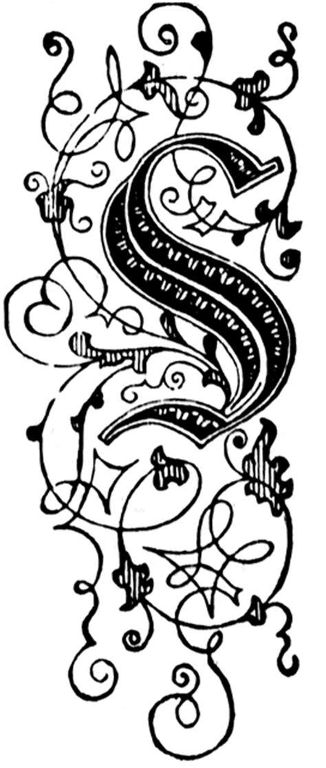 floral letter clipart
