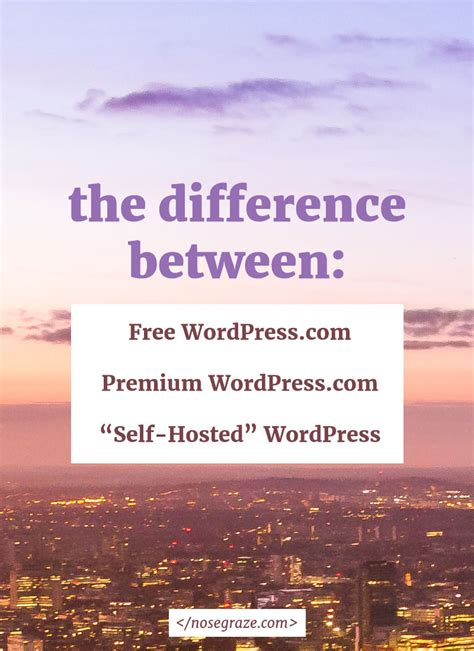 difference  wordpresscom   hosted