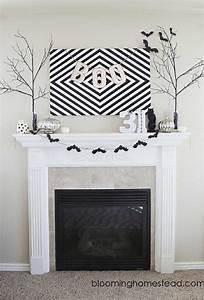 Cadre Deco Noir Et Blanc : d coration chemin e dans l 39 espirt d 39 halloween ~ Melissatoandfro.com Idées de Décoration