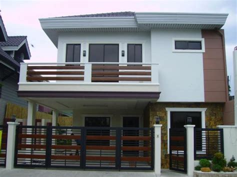 2 storey house design design 2 storey house with balcony images 2 modern