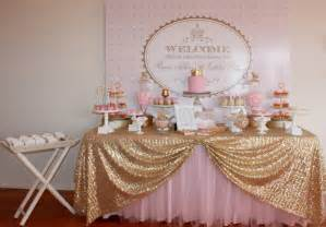 big company the gold and pink princess themed birthday by couture event styling