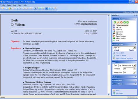 easy resume creator pro 4 22 86