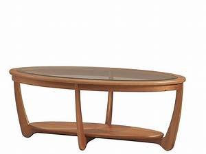 shades glass top oval coffee table in teak by nathan With oval teak coffee table