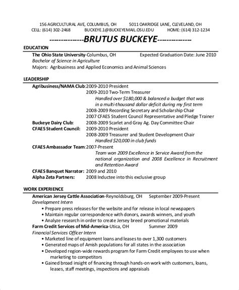resume templates expected graduation date