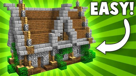 stylish compact medieval house minecraft tutorial trap