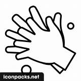 Hands Washing Icon Svg Symbol sketch template