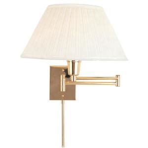 hton bay wall mount polished brass swing arm touch