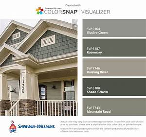 I found these colors with colorsnapr visualizer for iphone for Sherwin williams exterior paint visualizer