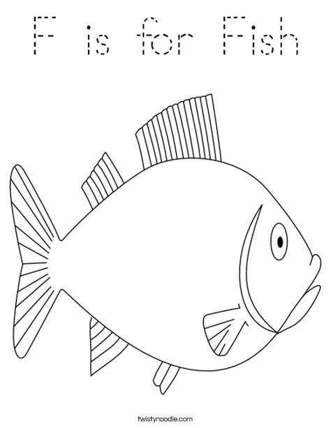 fish coloring page tracing twisty noodle