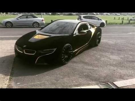 Bmw I8 Black And Gold