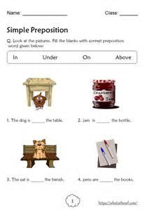 preposition worksheets  grade   home teacher