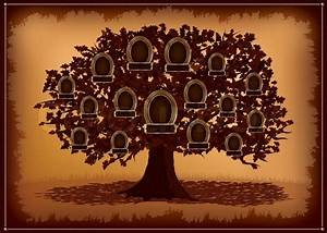 Family tree background with place for text. Vector ...