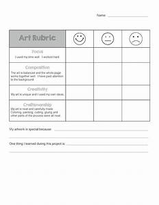 art rubric for elementary With elementary rubric template