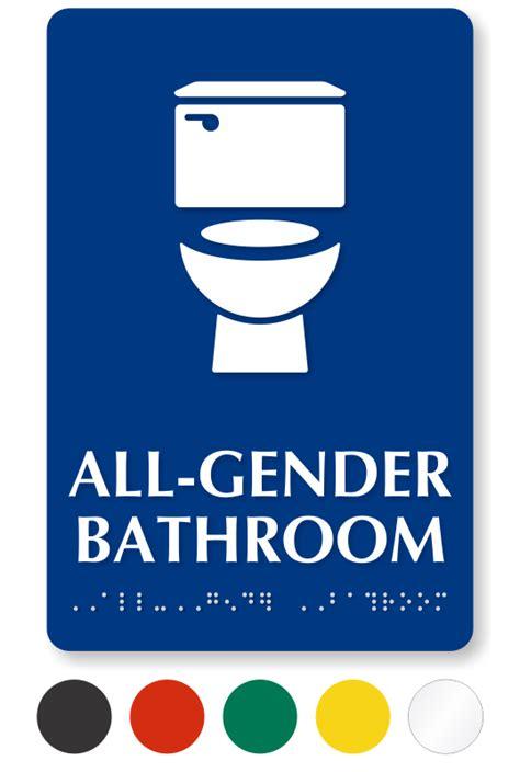 Gender Neutral Bathroom Signs by All Gender Restroom Signs Gender Neutral Restroom Signs