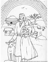Flood Noah Ark Coloring Colouring Bible Noahs Caty Lulu Son Template sketch template