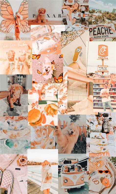 peachy vsco aesthetic iphone wallpaper aesthetic iphone