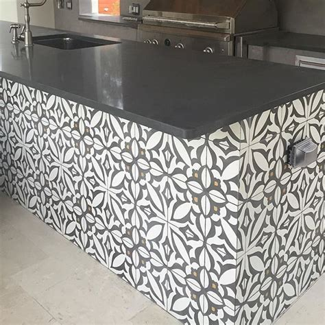 cement tiles outdoor kitchens  cement  pinterest