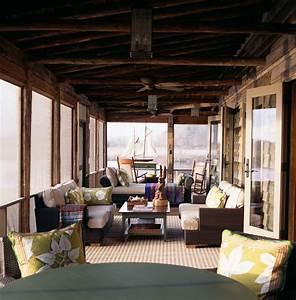 enclosed patio ideas Porch Rustic with 18th Century