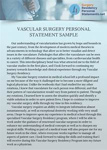 Vascular Surgery Personal Statement Writing Tips