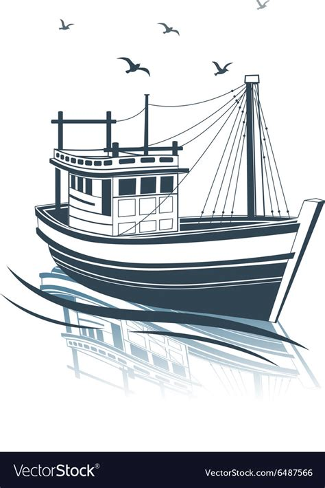 Fishing Boat Images Free by Fishing Boat 2 Royalty Free Vector Image Vectorstock