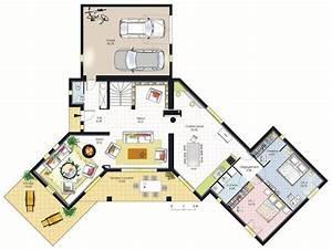 Maison Architecte Plan : plan architecte maison 200m2 ~ Dode.kayakingforconservation.com Idées de Décoration