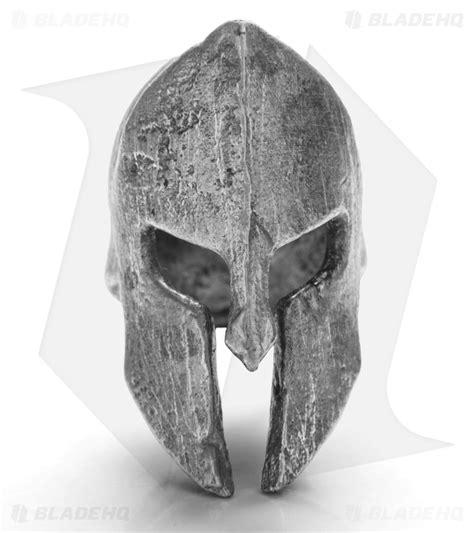 magallona spartan helmet skull lanyard bead pewter