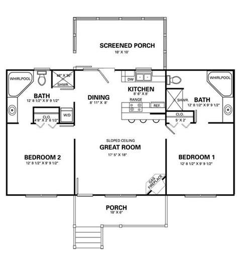 2 Bedroom Cabin With Loft Floor Plans House Design Ideas