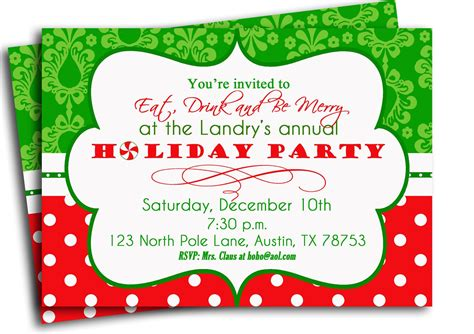 christmas party invitation invitation printable traditional