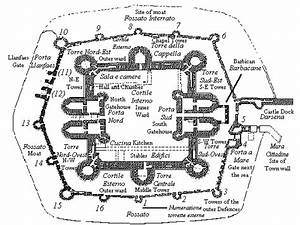 Site Plan For Beaumaris Castle In Anglesey  Which Features