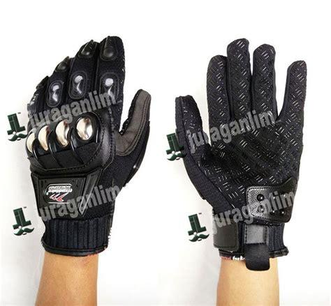 jual sarung tangan new madbike hitam batok stainless