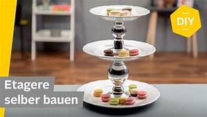 Balkonmarkisen Ohne Bohren : diy etagere selber machen mit tellern super einfach ~ Watch28wear.com Haus und Dekorationen