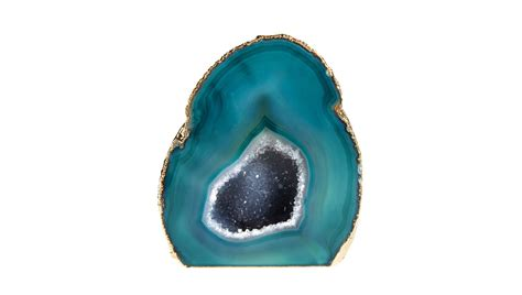 home interiors catalog aerin lauder agate geode ornament teal buy