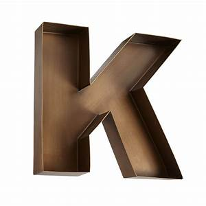 s magnificent metal letter the land of nod With metal letter k